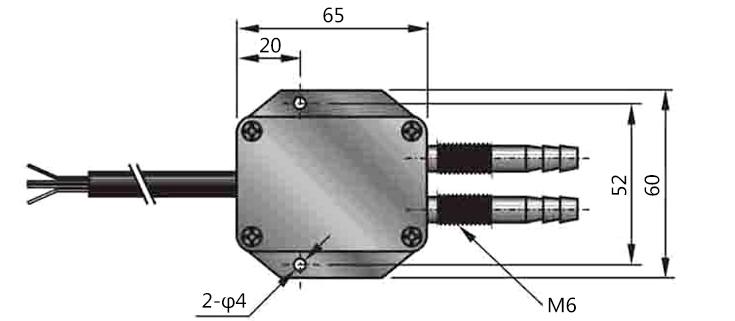 DX110型风差压传感器采用硅压力传感器组装而成,外壳为铝合金结构。两个压力接口配有M10螺纹,可直接安装在仪表机箱上或通过引压管连接。产品有毫伏、标准电压、电流、频率信号等可供选择,安装使用方便,广泛应用于锅炉送风、井下通风等电力、煤炭行业的风压控制领域。